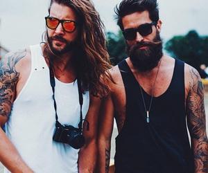 beard, tattoo, and bearded image