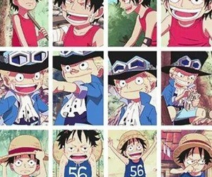 ace, one piece, and brother image