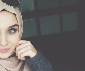 hijab, beauty, and islam image