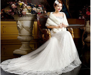 wedding dress, wedding gown, and special occasion dress image