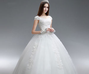 wedding gown, bridal dress, and expansion dress image