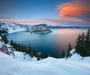 snow, nature, and lake image