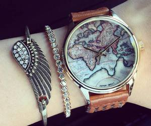 watch, fashion, and bracelet image