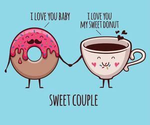 coffee, sweet, and couple image