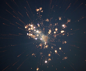 fireworks, light, and sky image
