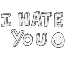 hate, transparent, and i hate you image