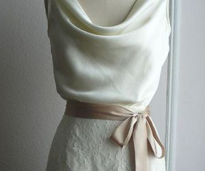 beige, lace, and white image