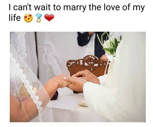 marry, perfect couple, and wedding image