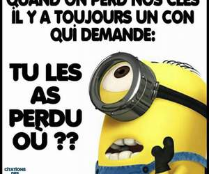 french, funny, and minions image