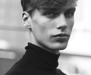 black and white, boy, and model image