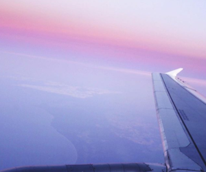 airplane, blogger, and sky image