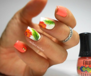 flower and nail image