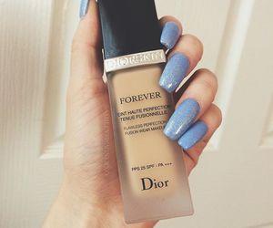 makeup, nails, and dior image