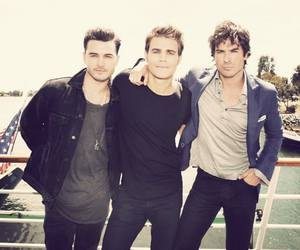 ian somerhalder, the vampire diaries, and paul wesley image