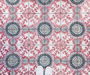 floor, pattern, and tiles image