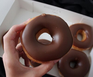 chocolate, donut, and food image
