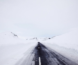 snow, road, and blue image