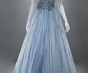 blue dress, party dress, and style image