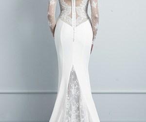 lace, sleeves, and wedding image