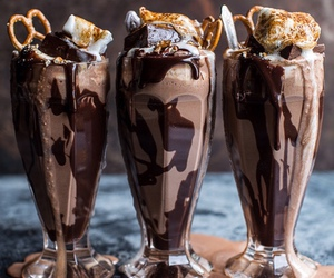 chocolate, shake, and delicious image