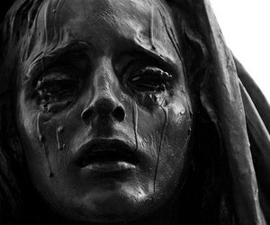 crying, sorrow, and face image