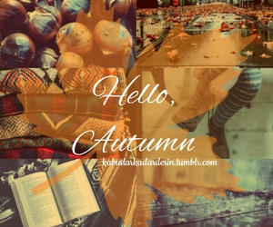 hello, autumn, and book image