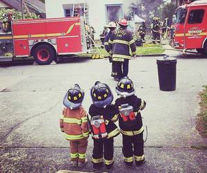 children, firefighters, and that image