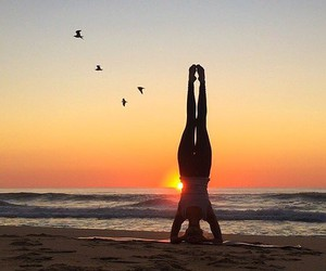 fitness, beach, and yoga image