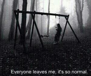 sad, alone, and dark image