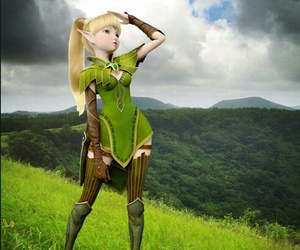 elf, leah, and dragonnest image