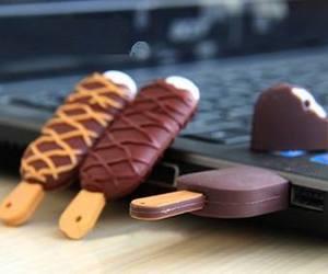ice cream, technology, and usb image