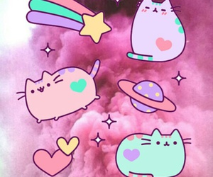 cat, fat, and pink image