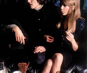 pattie boyd, george harrison, and 60s image
