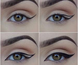 make up, eye-liner, and tutorial image