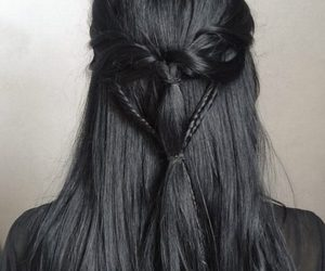 hair, black, and braid image