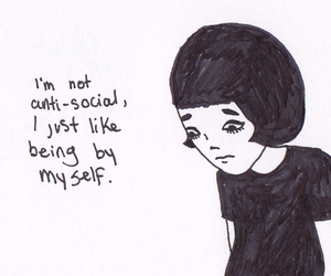 anti social, anti-social, and antisocial image