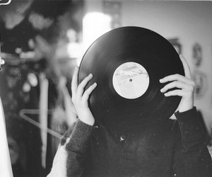 music, black and white, and vintage image