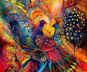 art, colorful, and bird image
