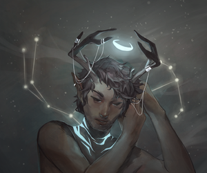 antlers, art, and galaxy image