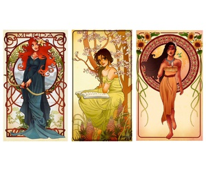 Art Nouveau, beauty and the beast, and belle image