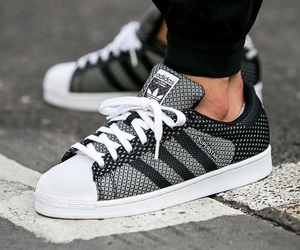 black, shoes, and superstar image