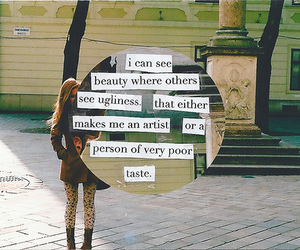 beauty, quote, and artist image