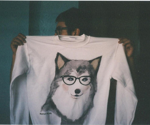 wolf, boy, and vintage image