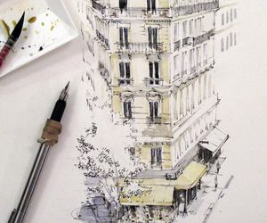 art, watercolor, and sketch image