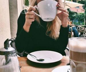coffee, girl, and breakfast image