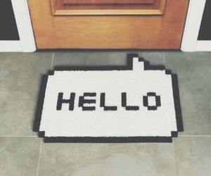 hello, door, and home image