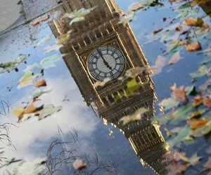 london, Big Ben, and leaves image