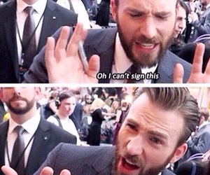captain america, hammer, and chris evans image
