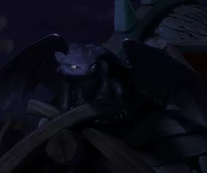 dragons, toothless, and hiccup image