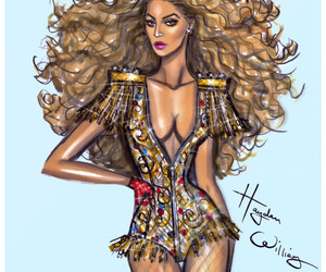 beyoncé, hayden williams, and fashion illustration image